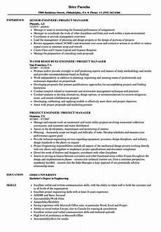 engineer project manager resume sles velvet