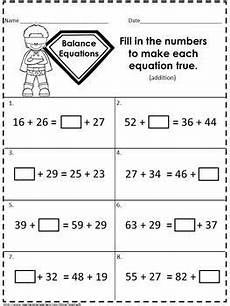 balancing equations addition and subtraction 2nd grade balancing equations addition