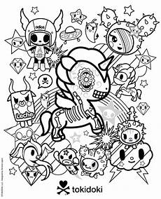 tokidoki colouring page coloring coloring books in