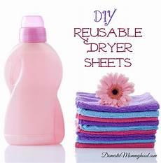 diy reusable dryer sheets domestic mommyhood