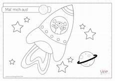 Malvorlage Rakete Einfach Wie Der Astronaut Zu Seiner Rakete Kam Freebie