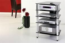 hifi rack glas schwarz glas hifi rack turm phono tisch design tv rack