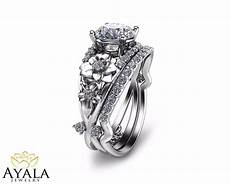 14k white gold diamond ring floral wedding unique bridal ebay