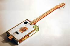 how to make cigar box guitars 4 string fretted cigar box guitar with piezoelectric