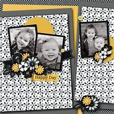 love this scrapbook page like the black and white with a splash of color could use any color