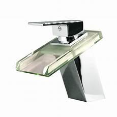 Waschtischarmatur Mit Led Beleuchtung - kokols single 1 handle led vessel glass waterfall