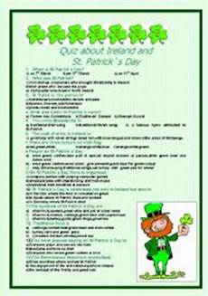 s day printable quiz 20588 quiz about ireland and st s day with answers esl worksheet by malniedz