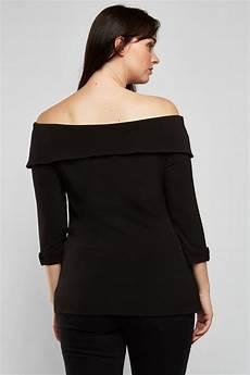 3 4 sleeve length shoulder top just 6