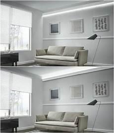 stuckleisten led indirekte beleuchtung wohnzimmer weiss