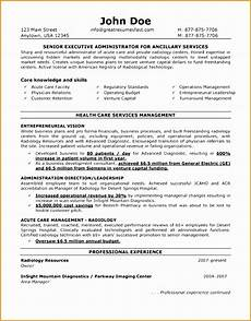 7 exle for hospital administration resume free