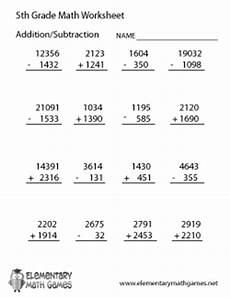 5th grade math worksheet subtraction fifth grade math worksheets
