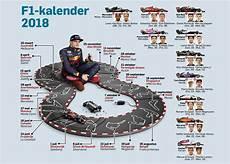 f1 kalender 2018 de jaarkalender de formule 1 wanneer beginnen de
