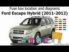 ford escape 2012 fuse box fuse box location and diagrams ford escape hybrid 2011 2012
