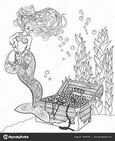 ausmalbilder f 252 r erwachsene meerjungfrau