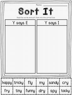 free printable sorting worksheets for grade 7981 january jumpstart january centers y as a vowel and loads of freebies grade phonics