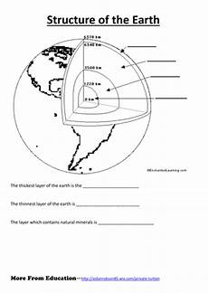 layers of the earth worksheet simple worksheet for structure of the earth by