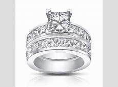 4.50 Ct Princess Cut Diamond Engagement Ring Set In