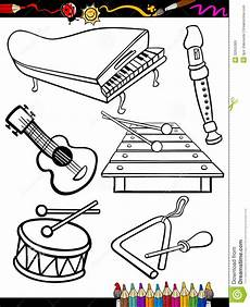instruments coloring page royalty free stock