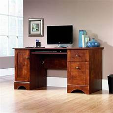 sauder home office furniture sauder computer desk table brushed maple finish office