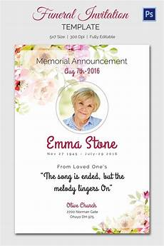 free template funeral cards funeral invitation template 12 free psd vector eps ai