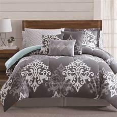 shop textured damask 12 piece bed in a bag with sheet and 2 bonus pillowcases free