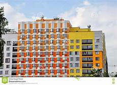 a stunning apartment with colorful geometric modern new apartment building with beautiful facade color