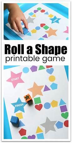 roll a shape printable game for preschool kids learning preschool activities preschool