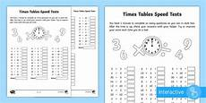 year 2 maths times tables speed tests homework worksheet year 2 maths