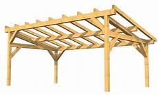 construction d une remise en bois exemple de charpente auvent ou pr 233 au 224 faible pente les