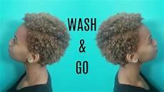 wash n go routine short natural 4c hair youtube