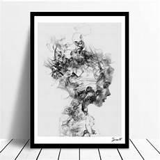 tableau moderne noir et blanc moderne nordic noir blanc fille poster toile peinture