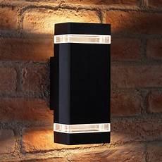 auraglow large outdoor double up down wall light chilton black auraglow auraglow led
