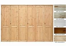 massivholz kleiderschrank 6t 252 rig schlafzimmerschrank kiefer