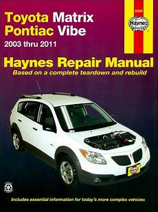 manual repair free 2012 toyota matrix user handbook toyota matrix pontiac vibe haynes repair manual 2003 2011