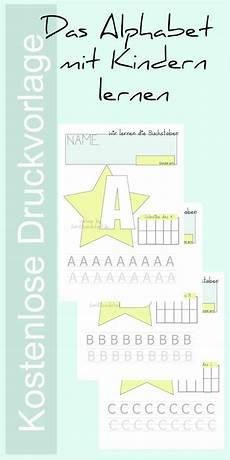 druckvorlage buchstaben lernen mit kindern buchstaben