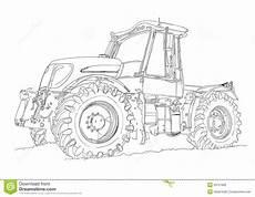 rolniczego ciągnika sztuki ilustracyjny rysunek ilustracji