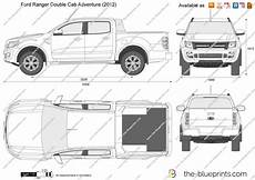 Ford Ranger Cab Adventure Vector Drawing