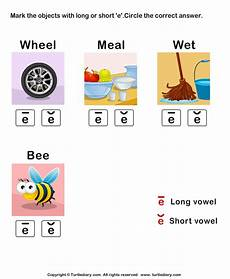short or e sound words worksheet turtle diary