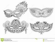 conceptions de masque de carnaval pour livre de coloriage pour l adulte illustration de vecteur