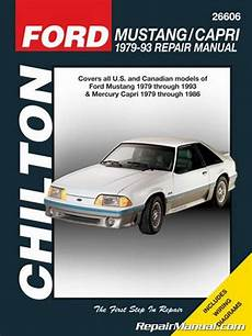 old cars and repair manuals free 1993 ford mustang instrument cluster 1979 1993 ford mustang automobile repair manual by chilton