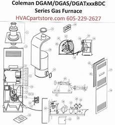 Dgam056bdd Coleman Gas Furnace Parts Hvacpartstore