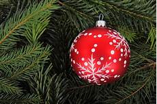 bauble on tree branches free stock photo