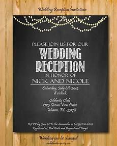 Wedding Reception Invitation Wording In