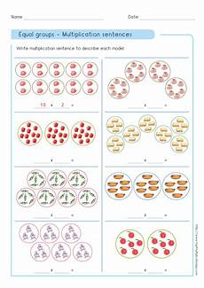 multiplication grouping worksheets grade 2 4836 write multiplication sentence using equal groups quizzes