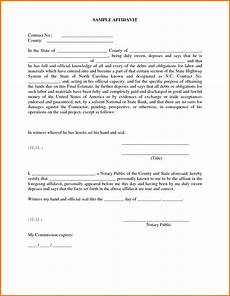 affidavit template business mentor