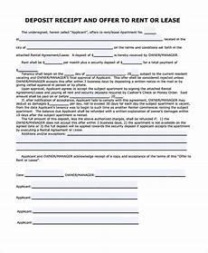 security deposit receipt template sle security deposit receipt 8 free documents