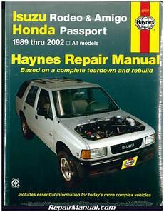 manual repair autos 2000 isuzu amigo head up display isuzu rodeo amigo honda passport 1989 2002 haynes automotive repair manual