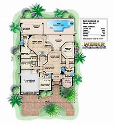 mediterranean house plans with pools mediterranean house plan one story florida style with