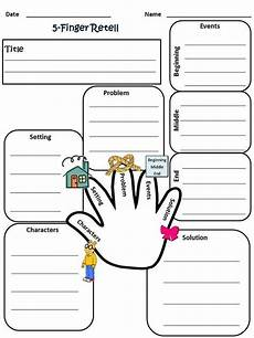 my 5 finger retell worksheet 2nd grade reading 2nd grade reading first grade reading 3rd