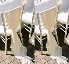 2019 romantic flowy wedding chair sashes wide and long 30d
